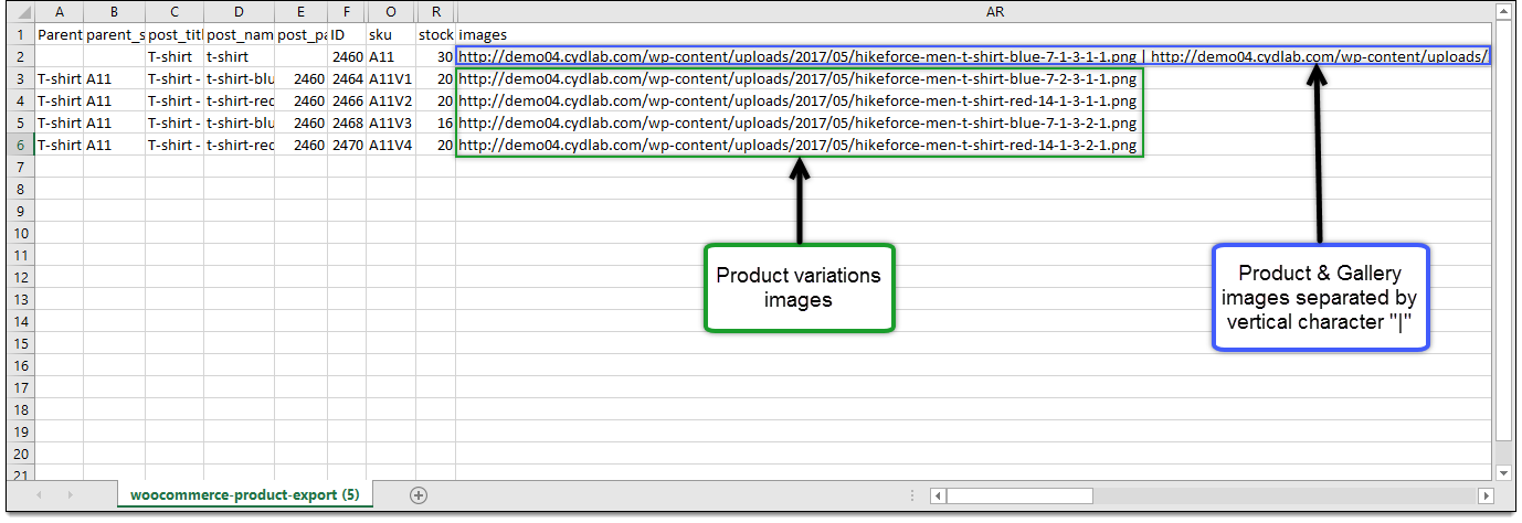 Product image import CSV
