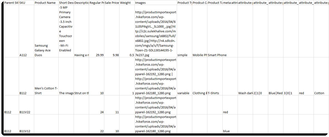 Sample CSV 2