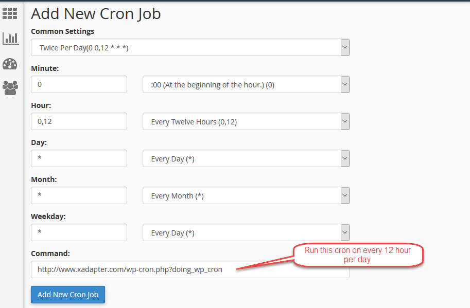 Set up Cron cPanel