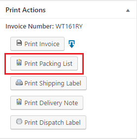 print actions packing list
