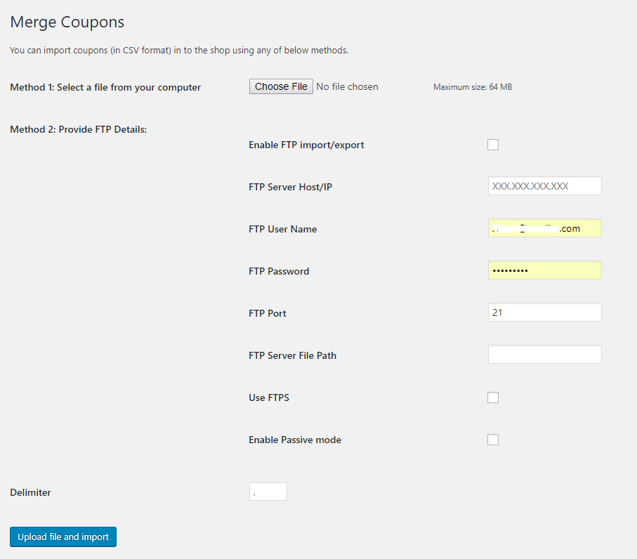Merge coupons page