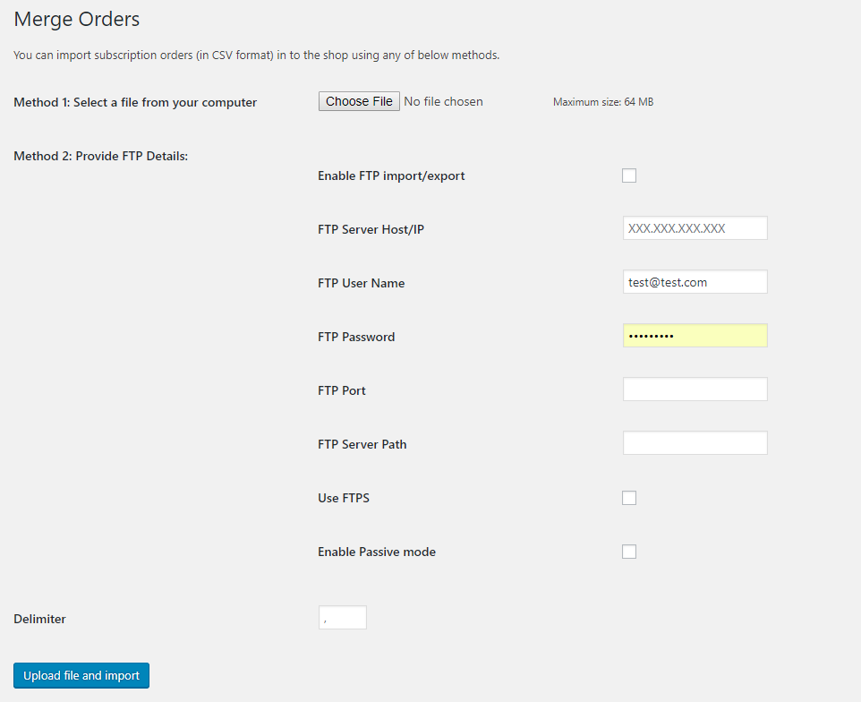 Merge subscription orders page