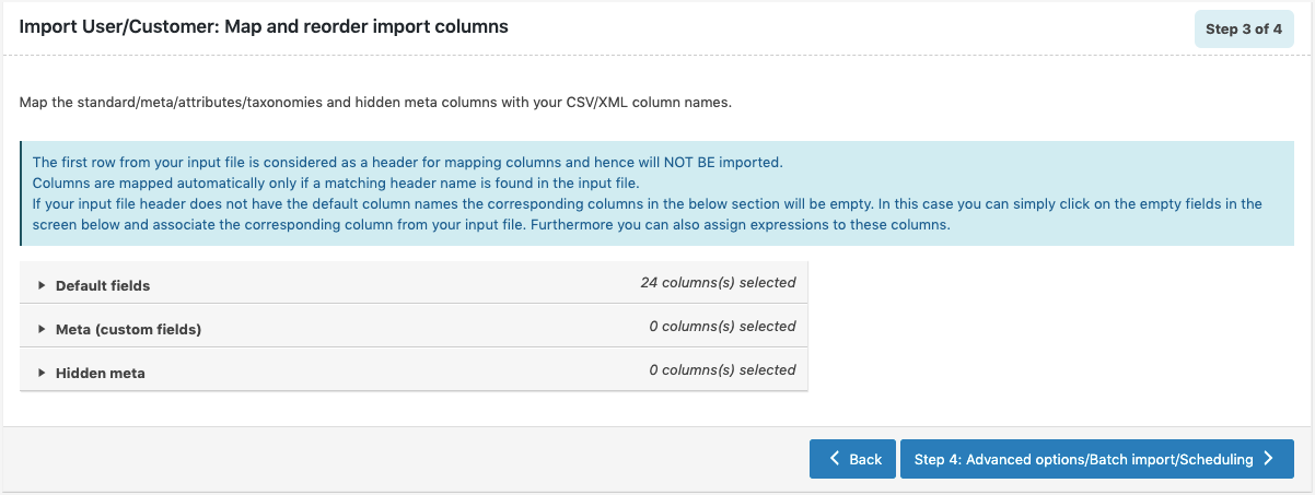 WooCommerce-User-Import-map-and-reorder