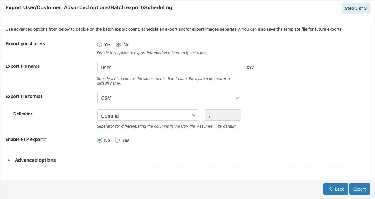 WooCommerce Users Export-Quick-advanced