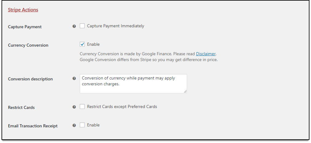 Stripe WooCommerce ApplePay Stripe Actions