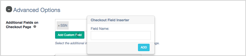 Addditional field checkout