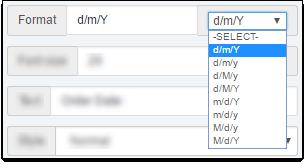 C Invoice DateFormat