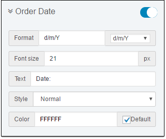 C Invoice OrderDate
