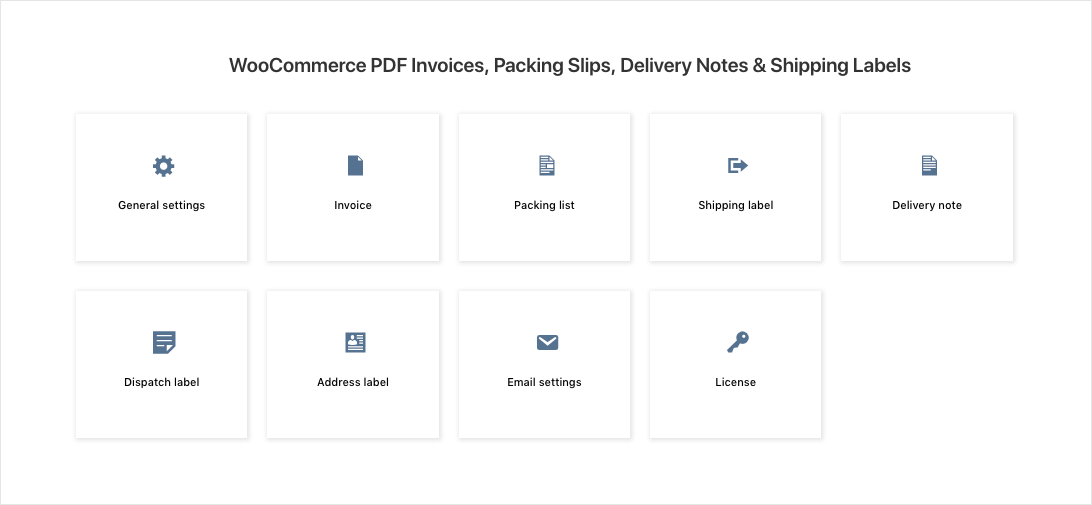 WooCommerce PDF Invoices, Packing Slips, Delivery Notes & Shipping Labels-Dashboard