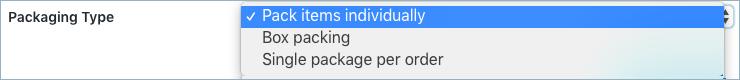 Invoice/Pack Slip-Packaging Type