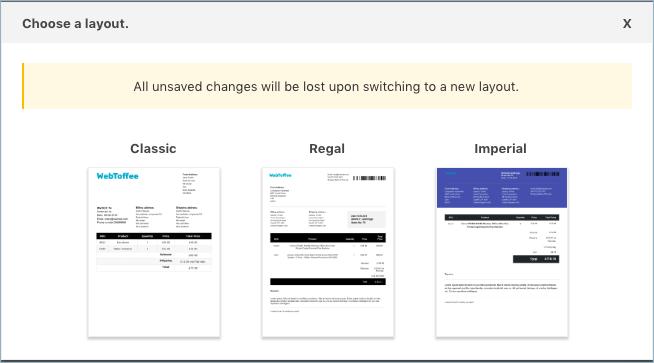 Invoice/Pack Slip-Theme