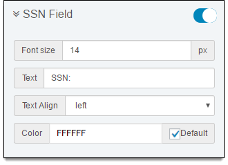 SSN Field