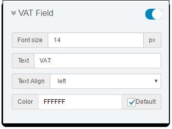 VAT Field