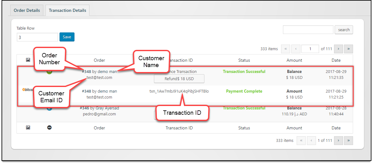 Stripe WooCommerce Troubleshoot Transaction Detail