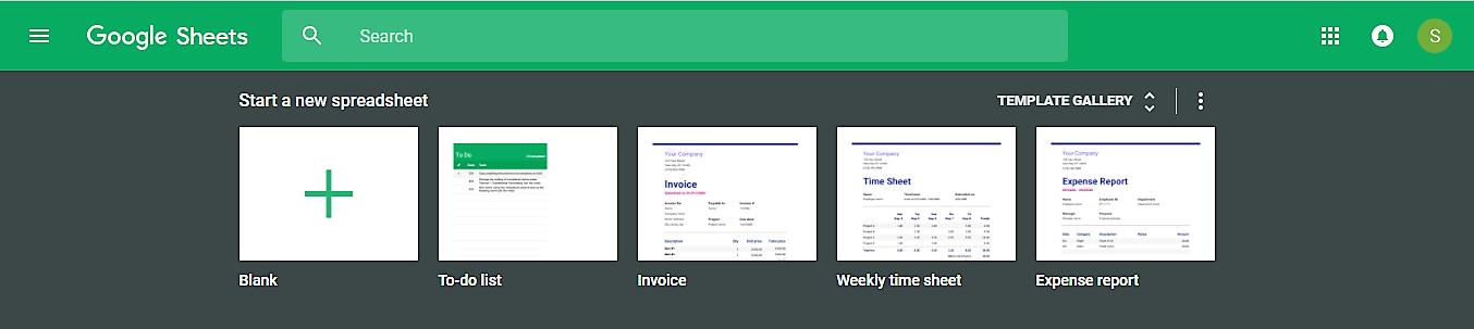Start new Google Spreadsheet