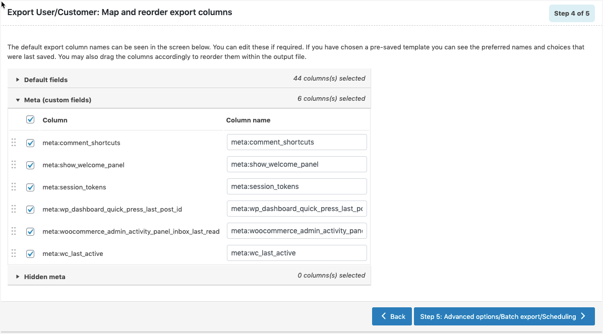 WordPress User Metadata_Export