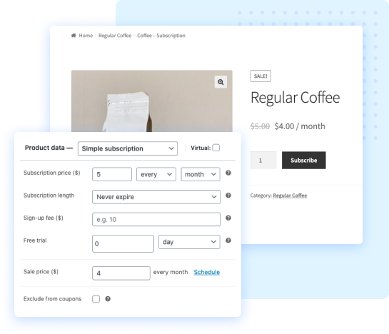 Create simple subscriptions using WooComerce subscriptions by WebToffee