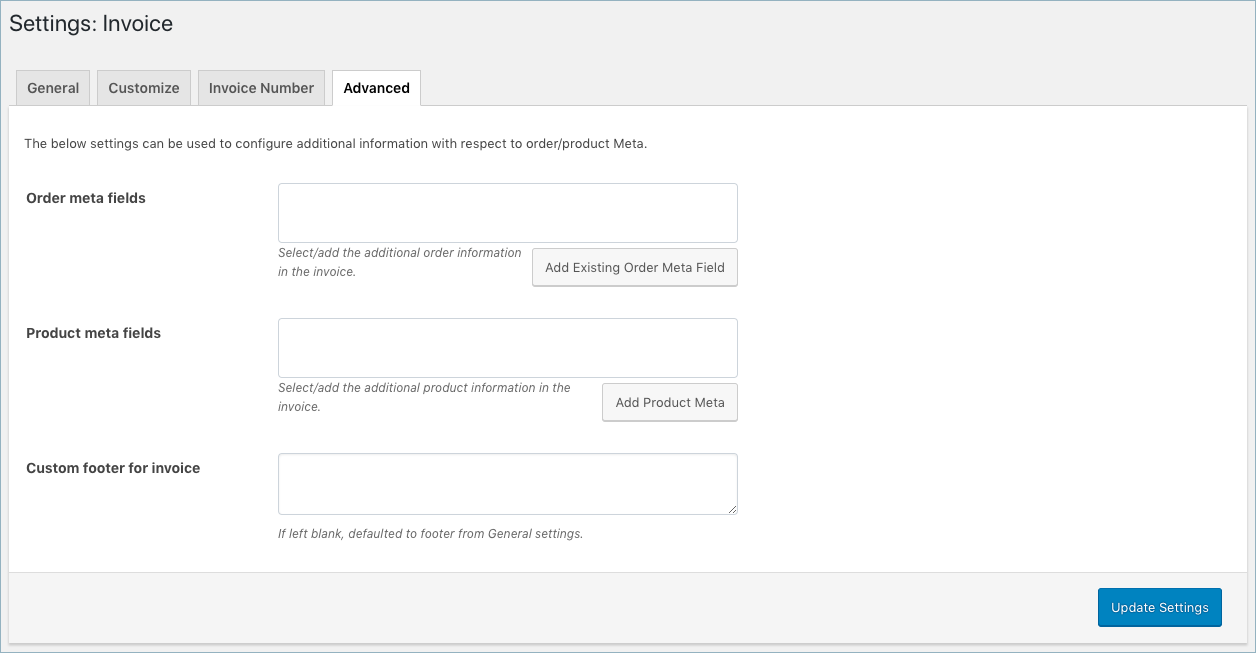 WooCommerce Invoice or Packing- Invoice Advanced Settings