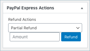 PayPal secure checkout full and partial refund