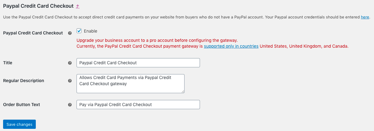 PayPal credit card payment and guest checkout