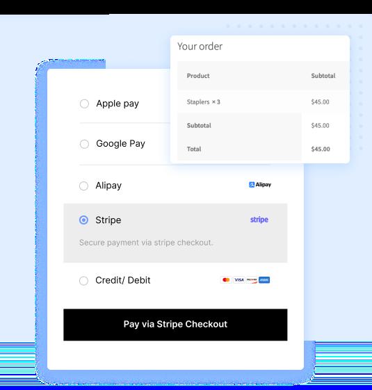 WooCommerce Stripe Payment methods