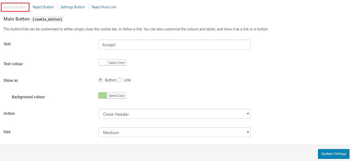 customize accept button