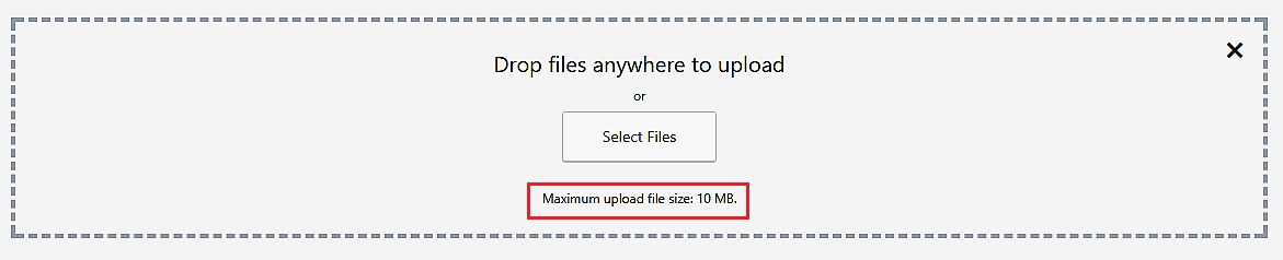 Check maximum file upload size