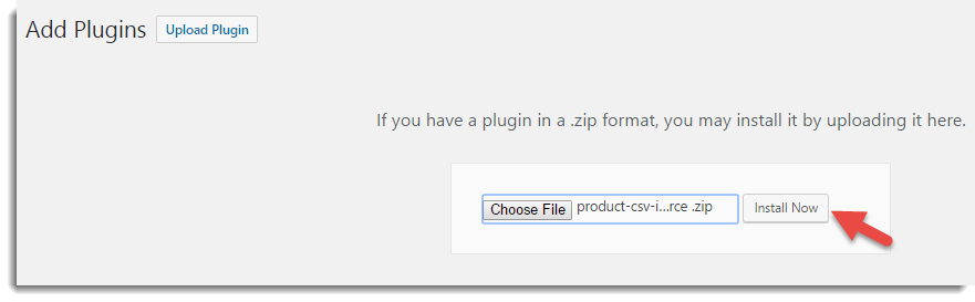 Plugin zip install now