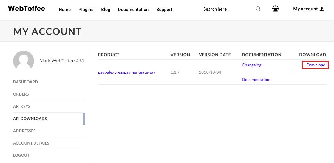 WebToffee API downloads