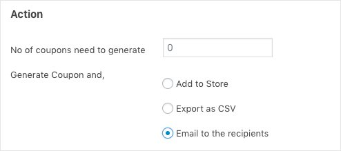 Bulk Generate coupon and email to recipients