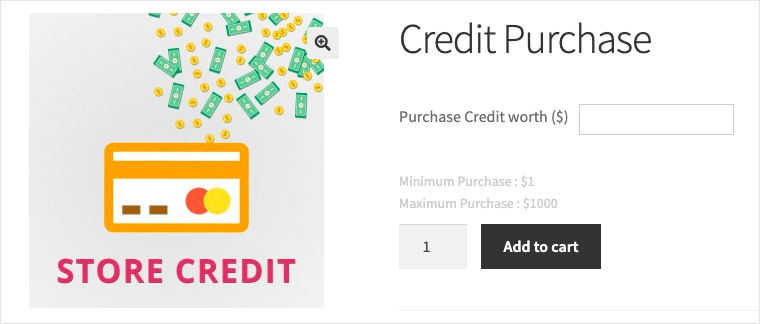Smart Coupon for WooCommerce- Min and Max store credit purchase value