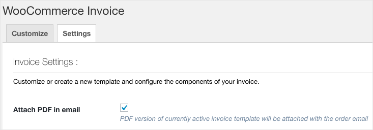 WooCommerce Invoice:Pack List-Attach PDF Invoice in email