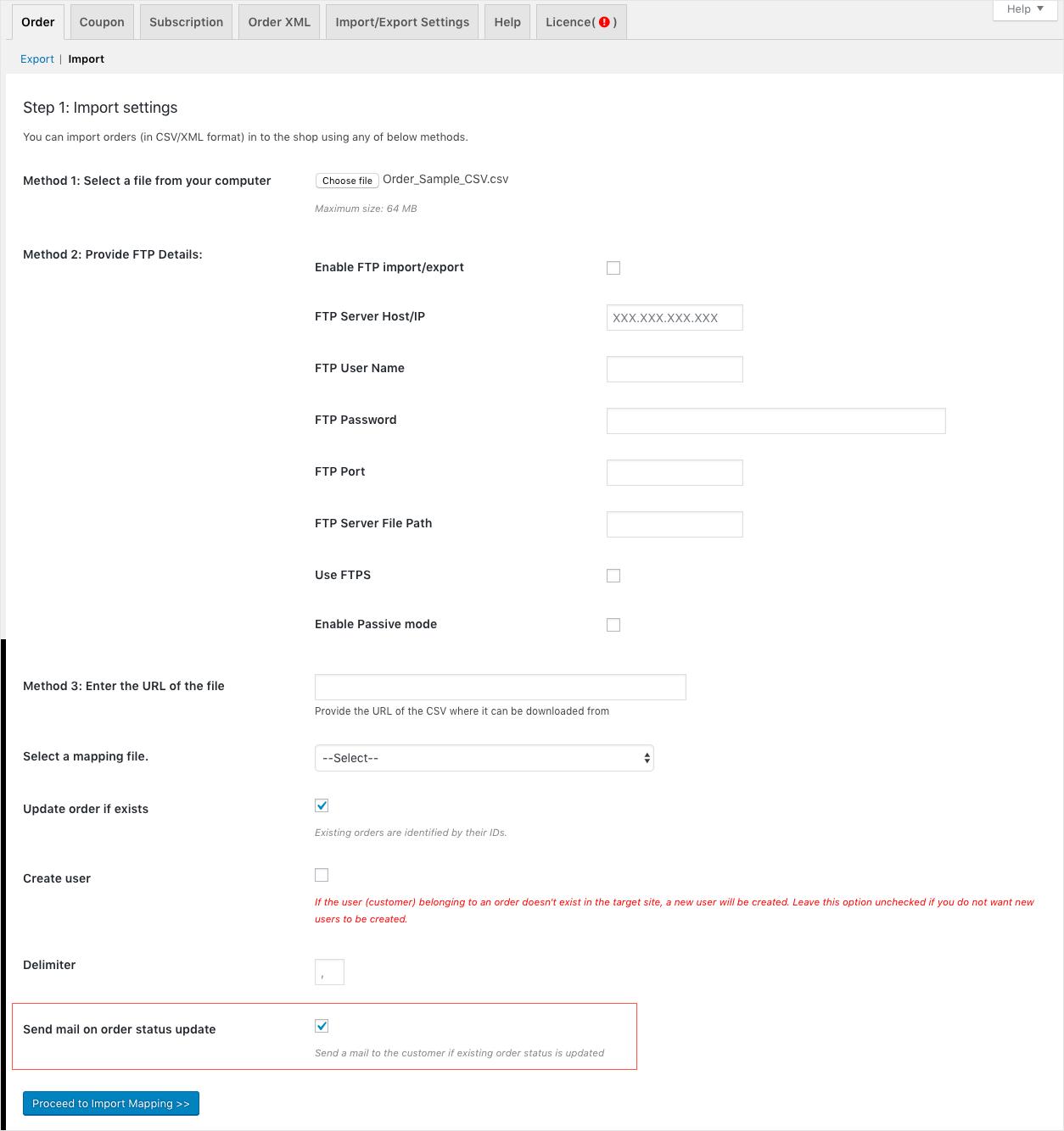 WooCommerce Order Import-Send email on Order status update