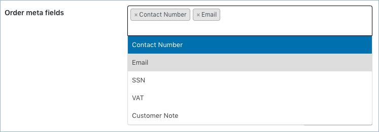 WooCommerce Invoice:Pack Slip-Invoice Advanced-Order meta fields