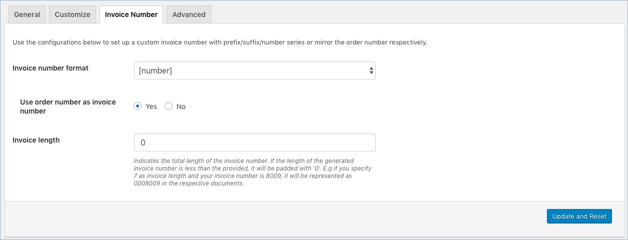 WooCommerce Invoice/Pack Slip-Invoice Number