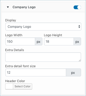 WooCommerce Invoice-Customize Tab-Company Logo fields