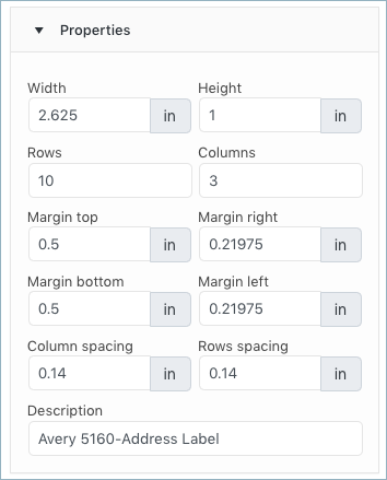 WooCommerce Address Label properties