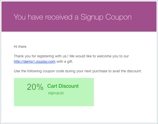 WooCommerce Signup Coupon-Signup Email Notification