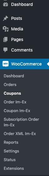 coupon Im-Ex naviagtion