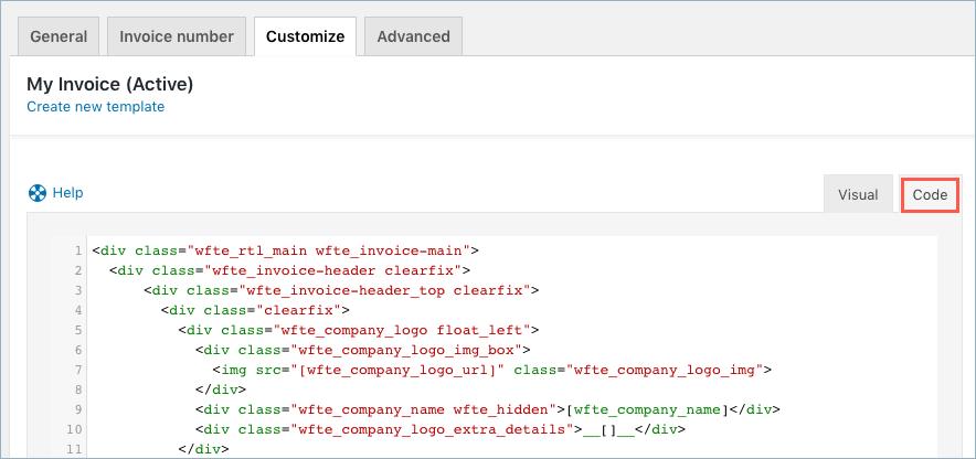 Invoice-CustomizeCode