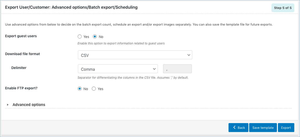 WooCommerce User Export-Step 5