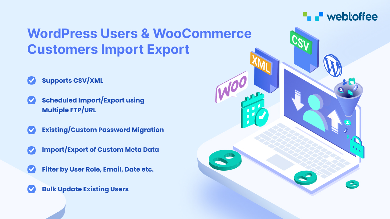 WordPress Users and WooCommerce Customer Import Export plugin - product featured image