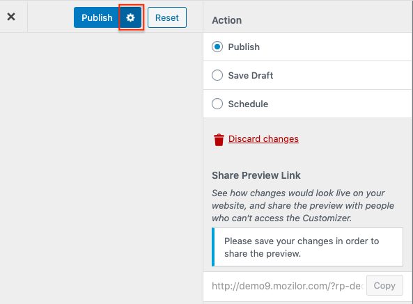 Advanced settings for email customization