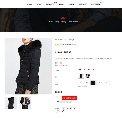 WooCommerce product variation swatches