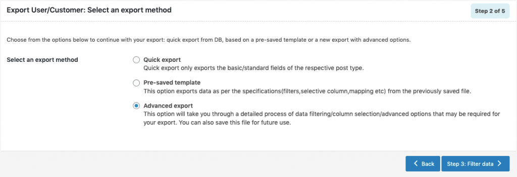 WooCommerce Users Export-advanced-method