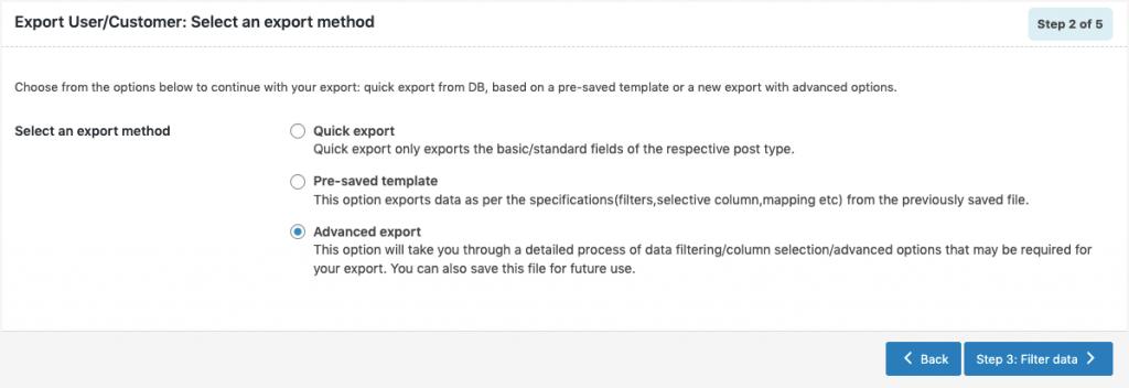 WooCommerce Users Export-advanced-method