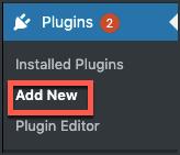 Plugin-menu