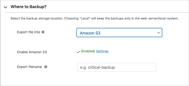 Exporting to Amazon S3 in free migrator plugin