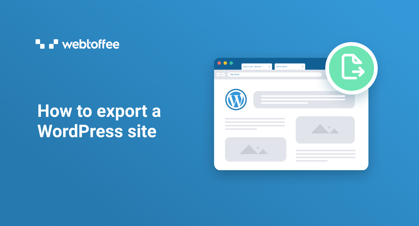 How to export a WordPress site