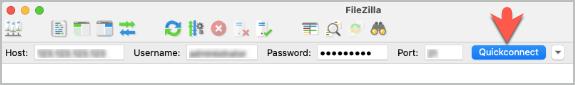 Quickconnect-in-fileZilla